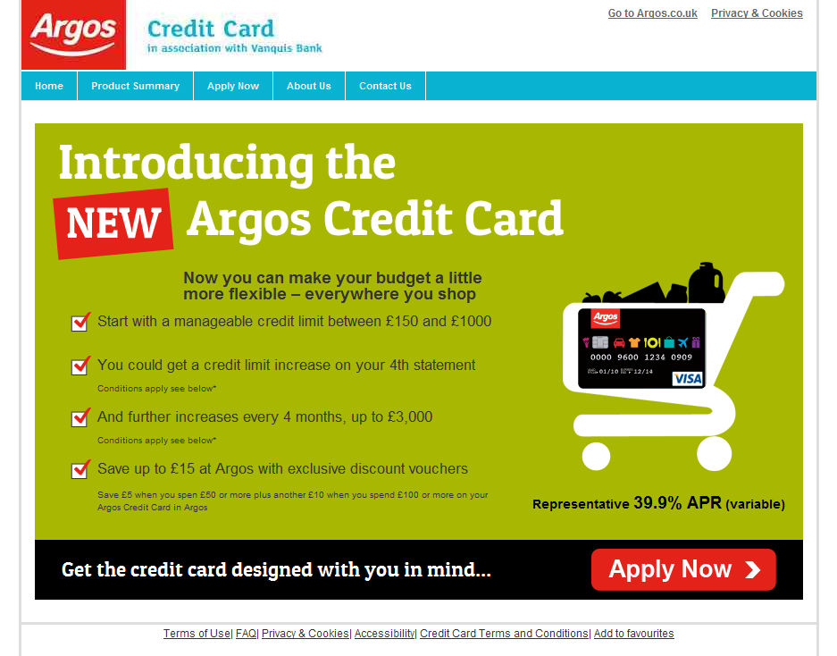 Argos Credit Card