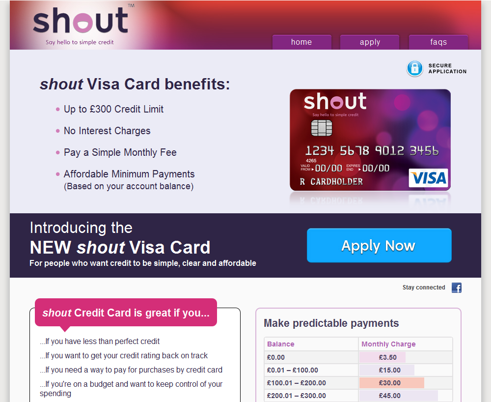 Shout Credit Card